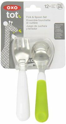 Oxo Tot 6104300 Fork and Spoon Set (Green)