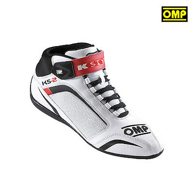 OMP KS-2 White Karting Shoes - 42 (8 UK) (8,5 US)