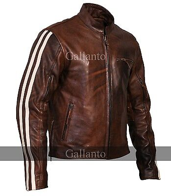 Tivoli Brown Cruiser Leather Jacket Removable Armour - Biker Motorcycle