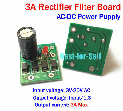 AC-DC Converter 3.3V 5V 12V 3A Full-bridge Rectifier Filter Power Supply Module