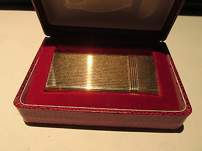 Vintage CHRISTIAN DIOR Gold Plated Lighter 1970's with original case See picture