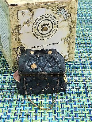 Boyds Bears Treasure Boxes MARY LOU'S BOTTOMLESS PURSE WITH BINGO MCNIBBLE