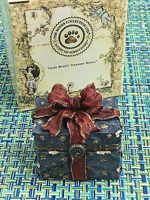 Boyds Bears Treasure Boxes TOPPER'S ORNAMENT BOX WITH TANGLE McNIBBLE