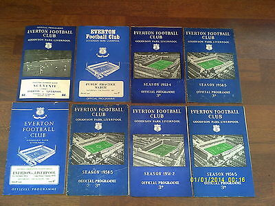 x8 - Everton Homes 1950s 1960s Football Programme Collection / Incls Liverpool