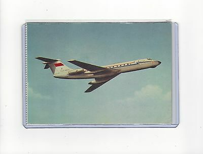 Aeroflot airlines issued late 60s TU-134  cont/l  postcard