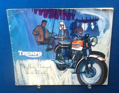 Triumph Motorcycles Sales Catalogue 1964 Edition In Used Condition