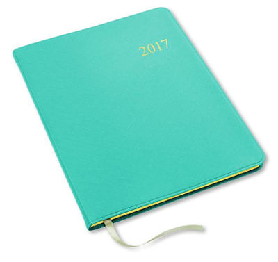 2017 Large Monthly Blue Planner Agenda Organizer Calendar by Gallery Leather !!