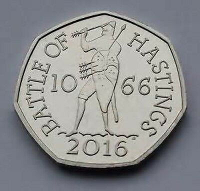 UNCIRCULATED  2016  BATTLE OF HASTINGS 50p