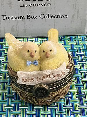 Boyds Bears Treasure Boxes Mr & Mrs Nestlings Home Tweat Home W/Nester McNibble