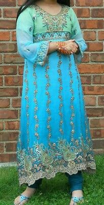 Party wear suit with embroidery, Indian dress, Salwar Kameez dubatta