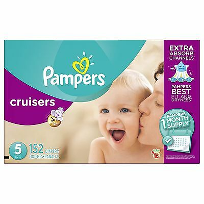 Pampers Cruisers Diapers, Size 5, One Month Supply, 152 Count