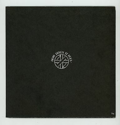 "Punk UK : CRASS : How Does It Feel ? 7"" UK 1982 poster sleeve"