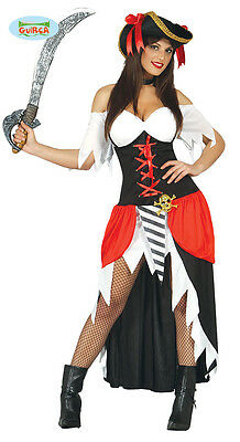 GUIRCA Costume pirata vestito corsara piratessa carnevale halloween donna 8080_