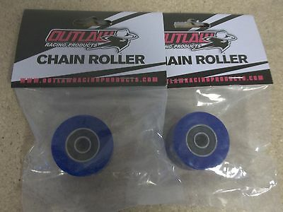 New Blue Upper + Lower Chain Rollers YZ 125 250 250F 400F 426F 450F WR 1991-2015