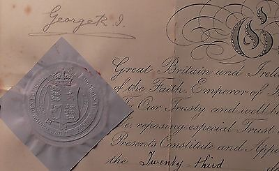 King George V Signed Autograph Warrant Commission Document First Year Of Reign