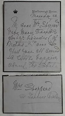 Queen Alexandra Hand Signed Autograph Royal Letter Consort of King Edward VII