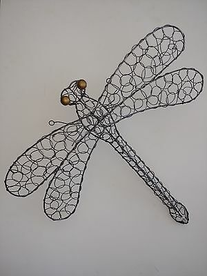 Large Dragonfly Metal Wire Wall Decor Animal Insect Sculpture
