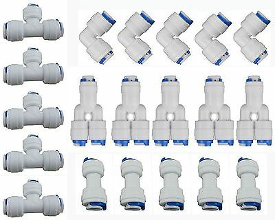 "Neeshow 1/4"" OD Quick Connect Push In to Connect Water Tube Fitting Set Of 20"
