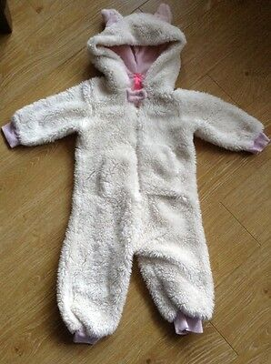Baby Girls Fleecy All In One Bunny Suit By Next - 12-18 Months