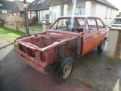 ford escort mk2 rolling chassis wide tunnel for restoration + v5