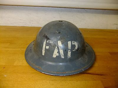 WW2  First Aid Party Helmet Dated 1940 With Originial Liner And Chinstrap
