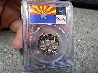 2008-S Flag Silver Arizona AZ State Quarter PR69DCAM PCGS Proof 69 Deep Cameo