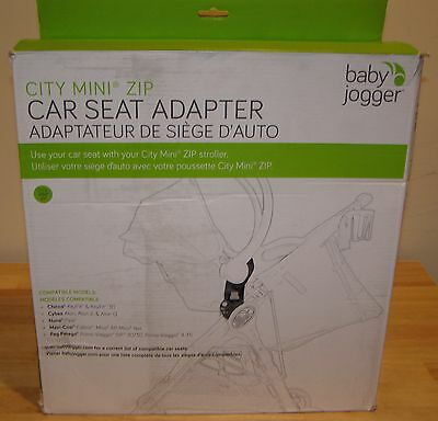 NEW City Mini Zip Car Seat Adapter Baby Jogger Stroller Chicco Peg Perego