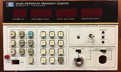 HP 5343A Microwave Frequency Counter (selected part)