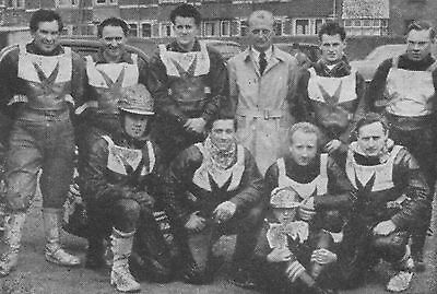 Exeter Falcons 1954 Speedway Team Photograph