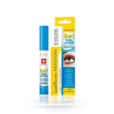 Eveline 8in1 Total Action Concentrated Eyelash Serum for Weakened & Brittle 10ml