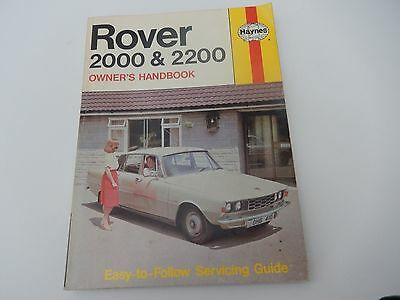 Haynes Rover 2000 and 2200 Owner's Handbook