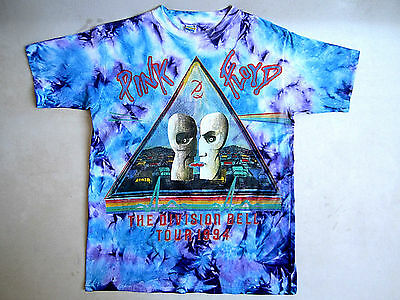 Vtg Pink Floyd 1994 The Division Bell T-Shirt Concert XL TOUR DATES DOUBLE SIDED