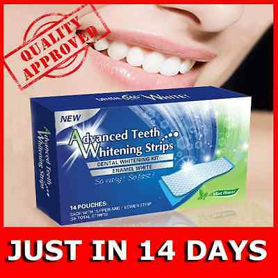 28x3D TEETH WHITENING STRIPS MINT FLAVOR 1-5-7-10-14 DAY TREATMENT