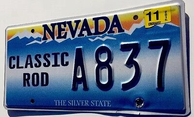 Nevada Auto Tag Special License Plate CLASSIC ROD Embossed & Last NV Version