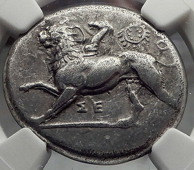 SIKYON 431BC NGC Certified Stater Ancient Silver Greek Coin CHIMERA Dove i58853