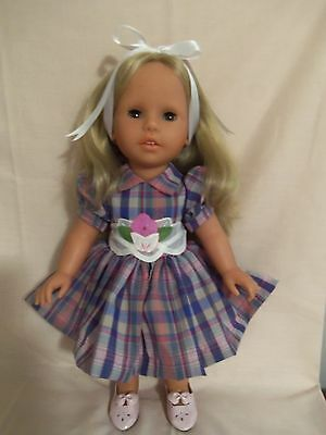 """17"""" All Vinyl 1997 Zapf Doll """"Colette"""" With Plaid Dress"""