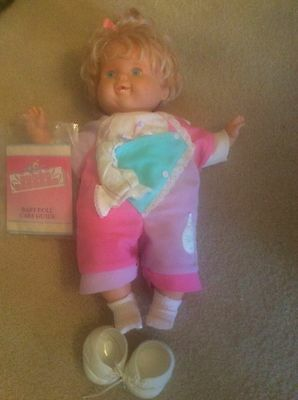Vintage Tiny Tears Doll by Ideal with original clothing, shoes, socks - 1989