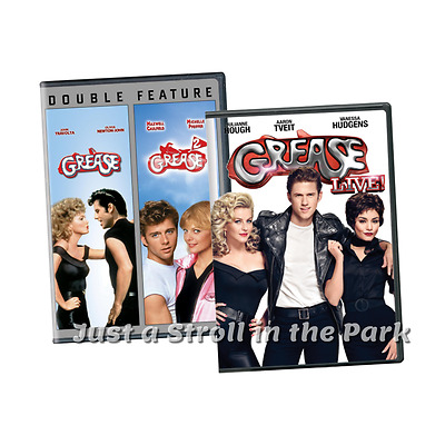 Grease: Complete Movie Series 1 & 2 + Grease Live! Collection Box/DVD Set(s) NEW