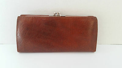 Beautiful Vintage Oak Calf Leather Wallet. Made in Canada