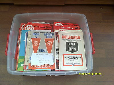 x292 - HUGE Manchester United 1960s 1970s Programme Collection ALL TOKENS INTACT
