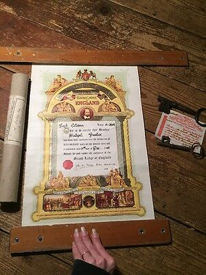 ROYAL ANTEDILUVIAN ORDER OF THE BUFFALOES CERTIFICATE 1961 Lord Nelson 3849