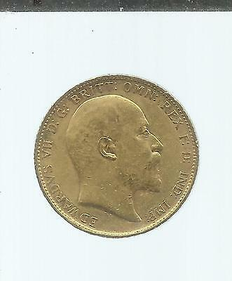 Full Sovereign 1902, Edward VII, Circulated Gold Coin. Great Britain.