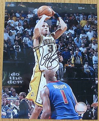 Reggie Miller Indiana Pacers signed 8x10 photo