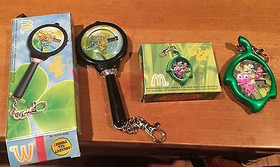 Two Mcdonald's Bugs Life Clip Tock Watches From 1998. New In The Box