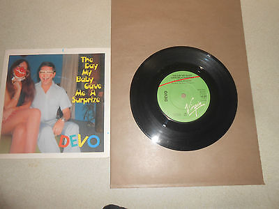 DEVO       THE DAY MY BABY GAVE ME A SURPIZE    7inch vinyl