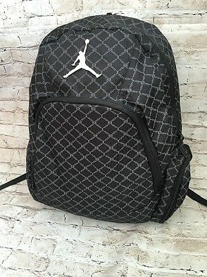 Jordan Jumpman Gray Backpack, School, Travel, Gym 2 Straps