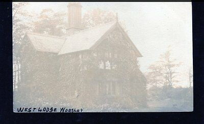 Worsley, Manchester, West Lodge, Lancashire, Real Photographic Postcard, RP
