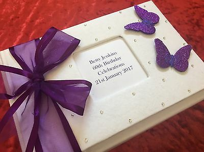 18th 21st 30th 40th 50th 60th Personalised  Gift Party Guest Book