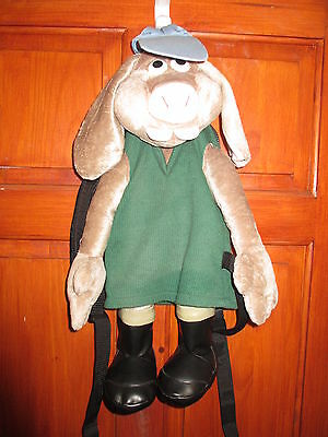 Wallace and Gromit HUTCH Curse of theWere-Rabbit Back Pack used great condition