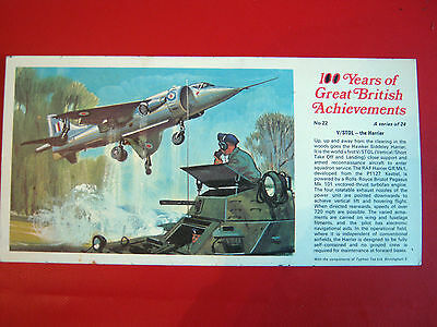 Rare Ty-Phoo 100 Years Of Great  British  Achievements - Large Card No 22